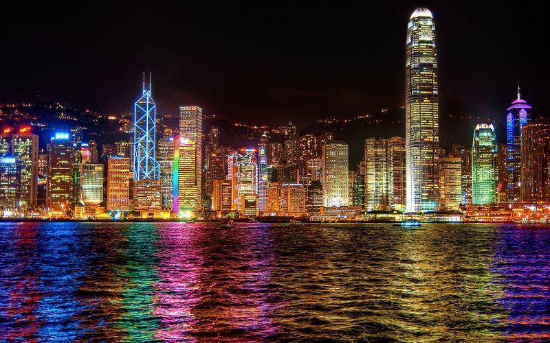 Hong Kong di malam hari