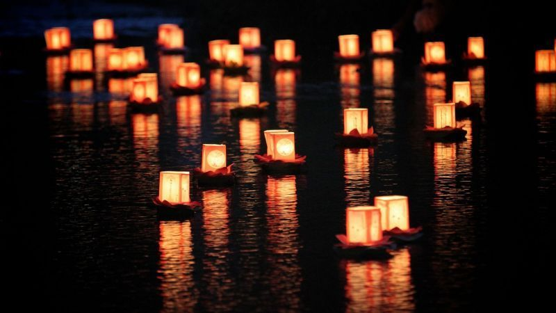 Candles on the river