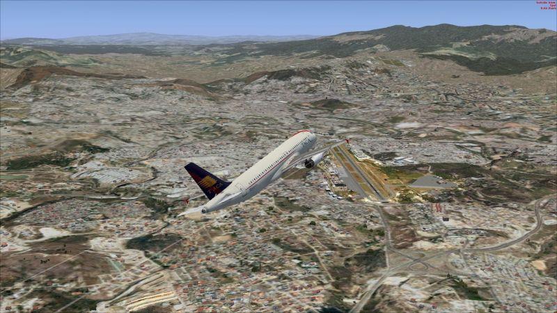 Sulitnya pesawat yang hendak mendarat