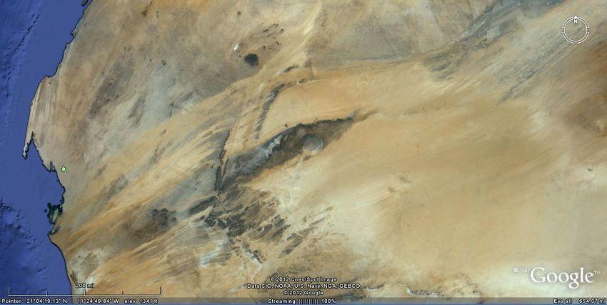 Mata afrika dilihat dari luar angkasa