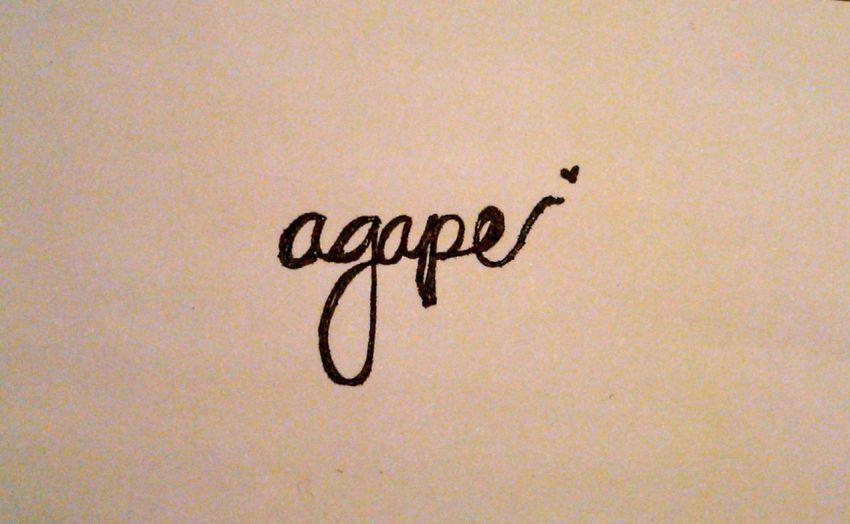 Agape, cinta terhadap kemanusiaan