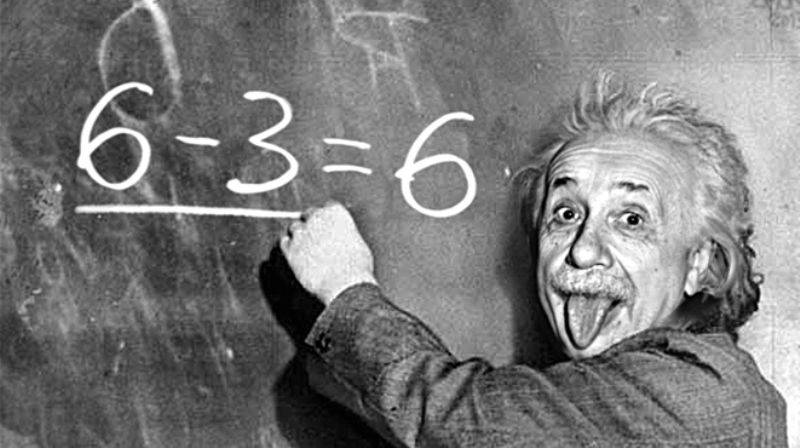 Einstein itu genius. Dari pas sekolah dulu.