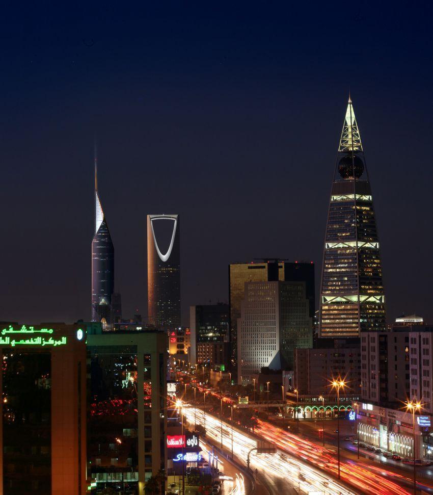 kota Riyadh di malam hari