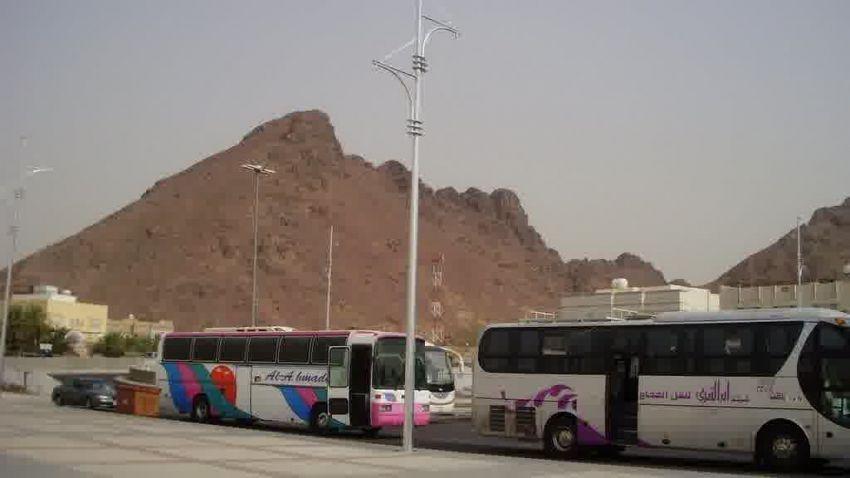 Tempat parkir di Jabal Uhud