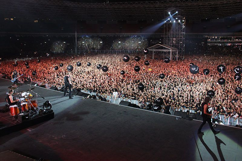 Metallica waktu menghajar Jakarta