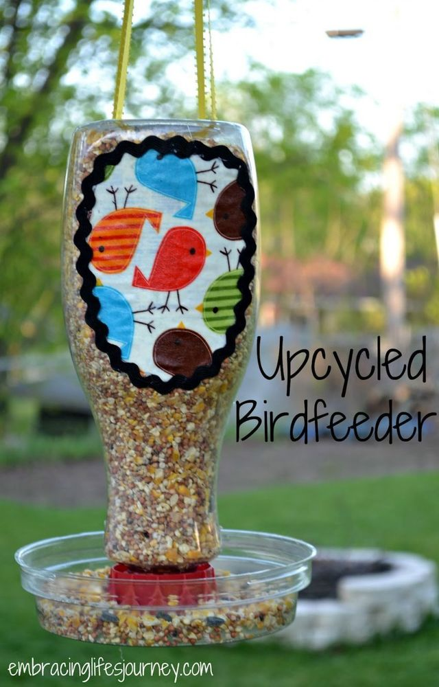 tempat makan burung kreatif