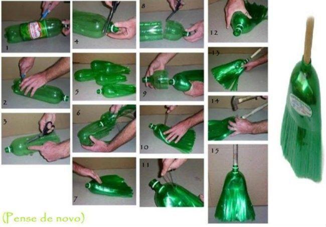 sapu dari botol plastik yang awet