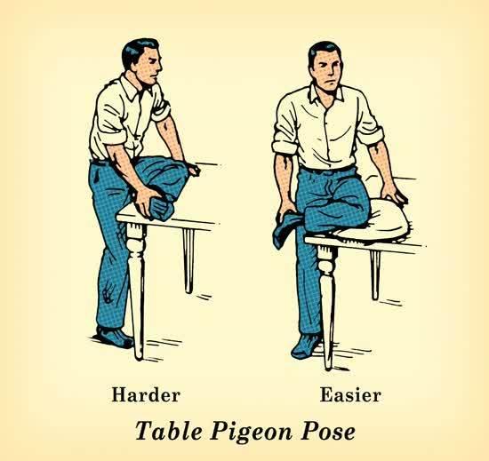 Table pigeon pose