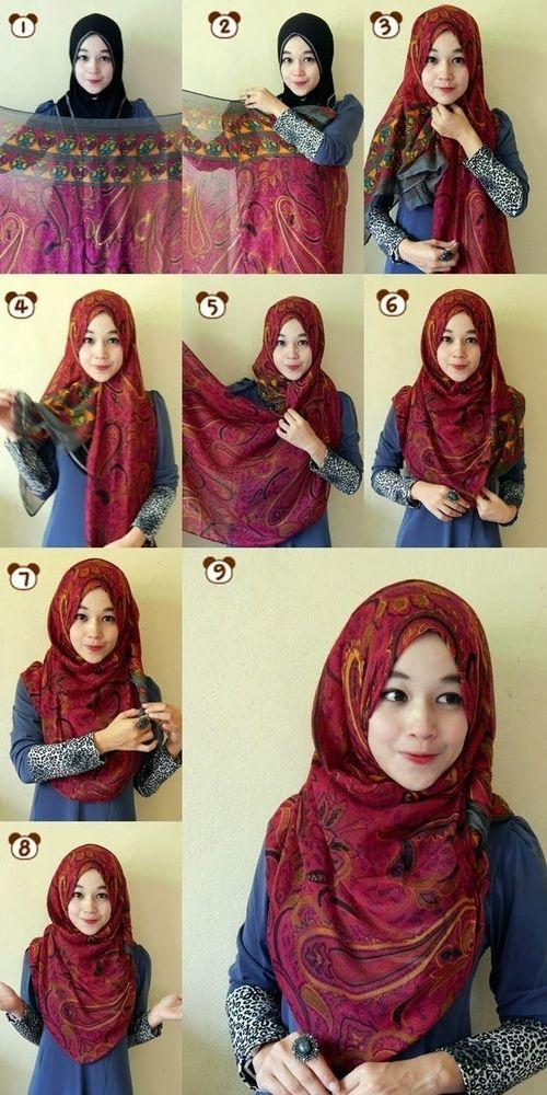 Cantik dengan hijab menutup dada