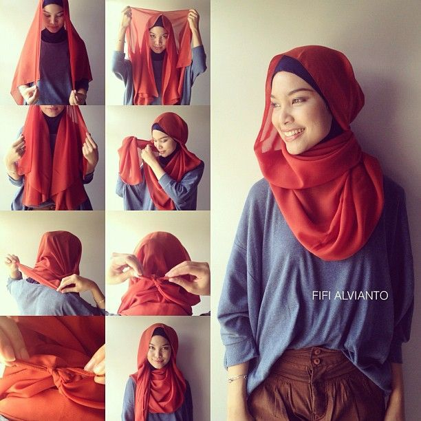 Tapil gaya dan santai dengan jilbab paris