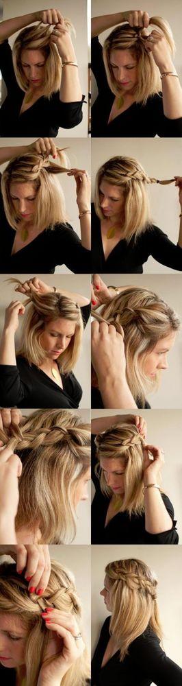 Gaya Rambut Yang Akan Membuat Cantikmu Terpancar - Gaya rambut pendek kepang