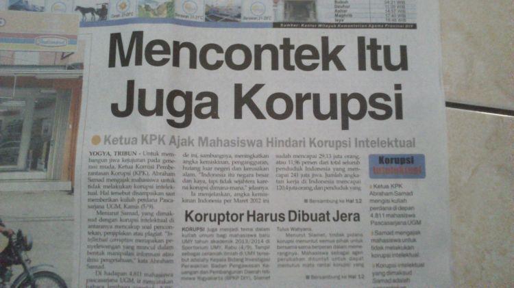 Bahkan surat kabar juga masih salah tulis :(