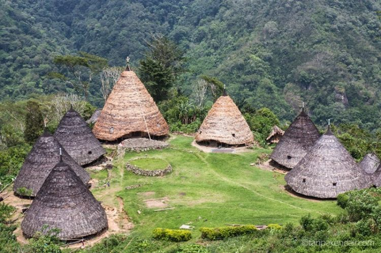 7 rumah kerucut di Desa Waerebo