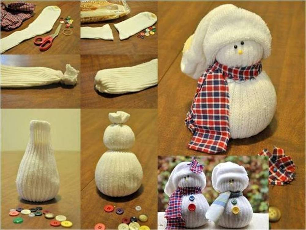 Снеговик на новый год своими руками фото