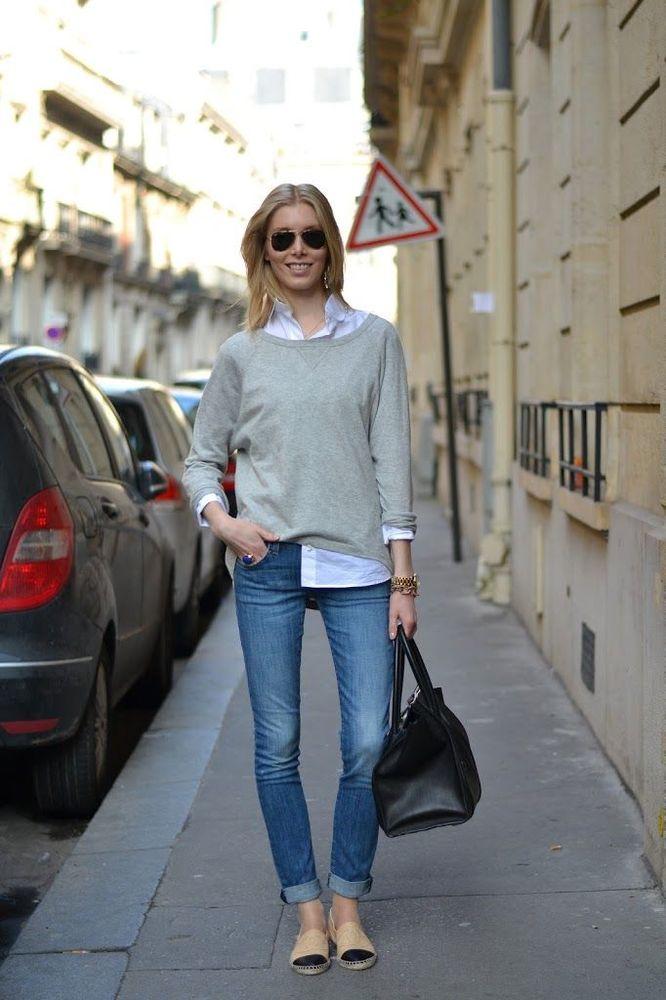 Kemeja putih dengan sweater? bagus nih