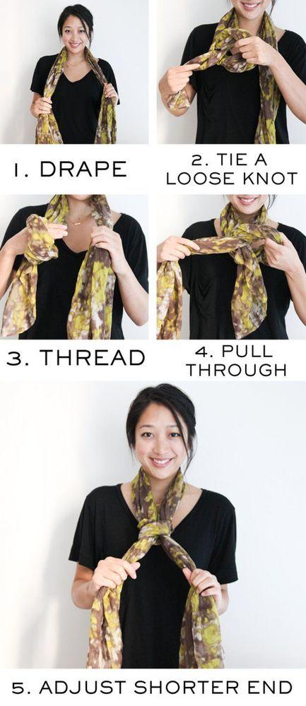 Gaya scarf untuk kekantor