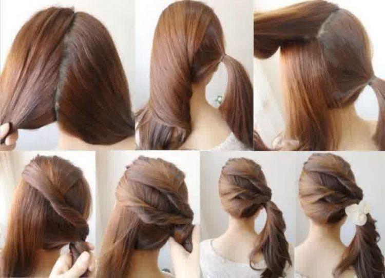 beri sedikit sentuhan sederhana ini pada rambutmu