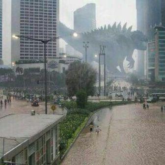 Godzilla juga butuh hiburan