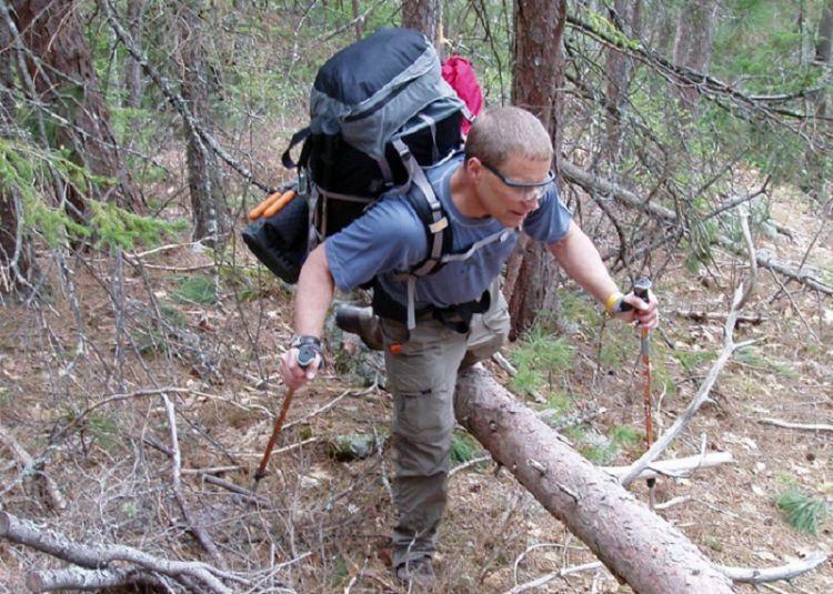 Manfaatkan trekking pole