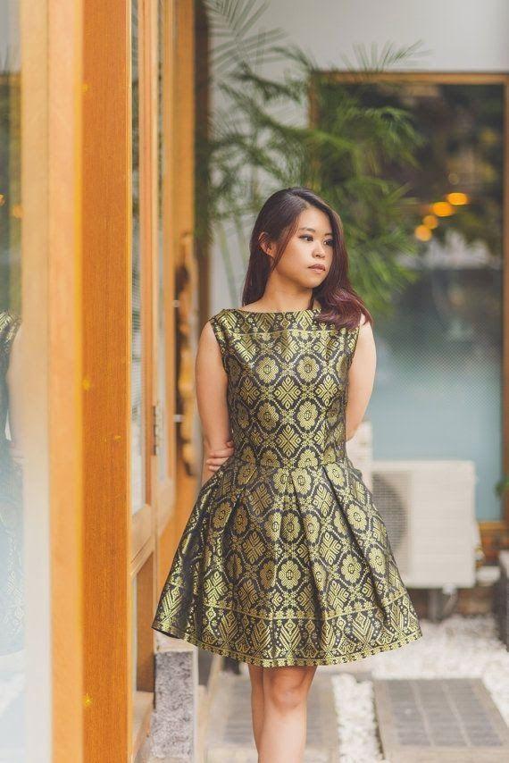 Dress dari kain songket yang cantik