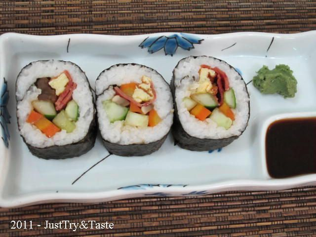 Olah nasimu menjadi sushi yang lezat