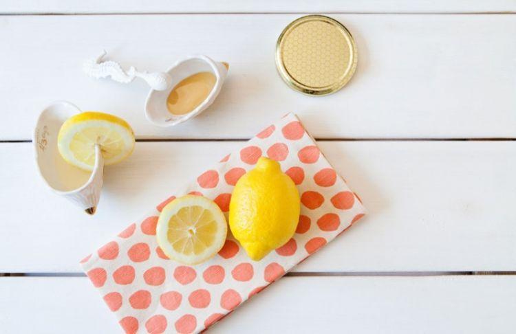 Honey and lemon shot mask