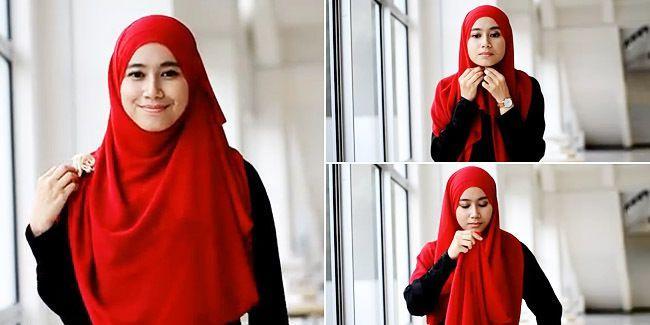 4 Tutorial Jilbab Menutup Dada Bergaya Sedikit Berbeda