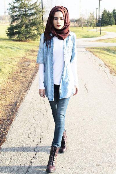 Tanpa Harus Melepaskan Jilbab 6 Gaya Berbusana Lengan