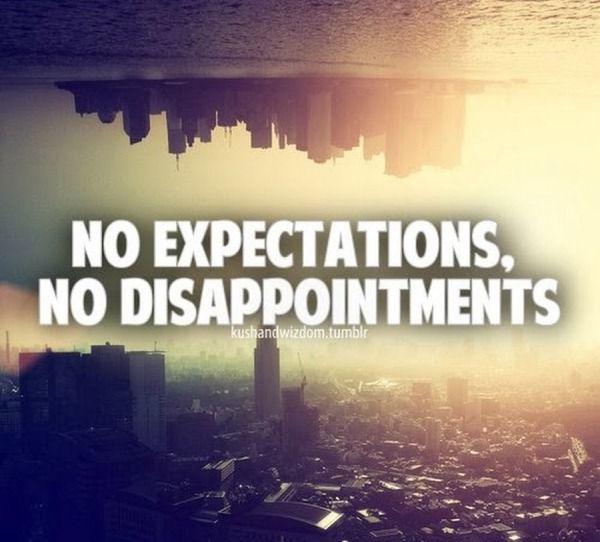 Kekecewaan berasal dari ekspektasi