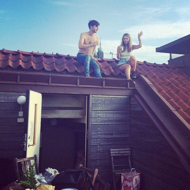 foto rooftop ngirit, yang penting eksis