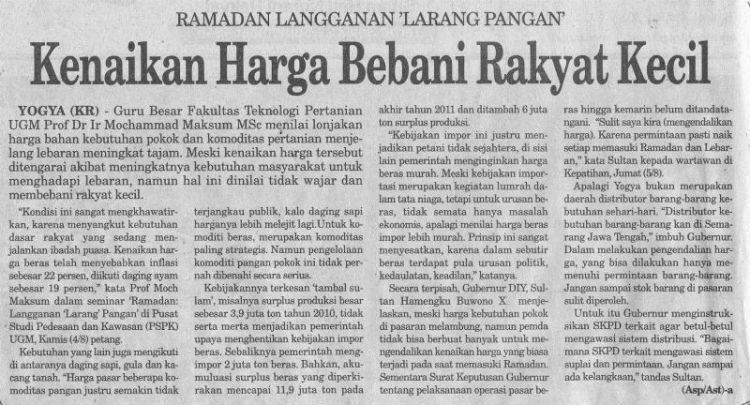 Sebelum mamah shock baca headline beginian sebaiknya kamu udah mulai nyetok beras.