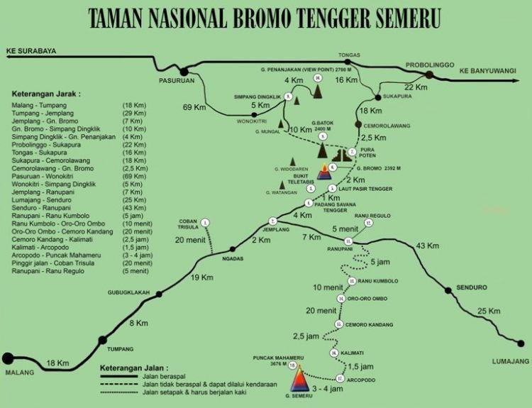 Peta rute TNBTS