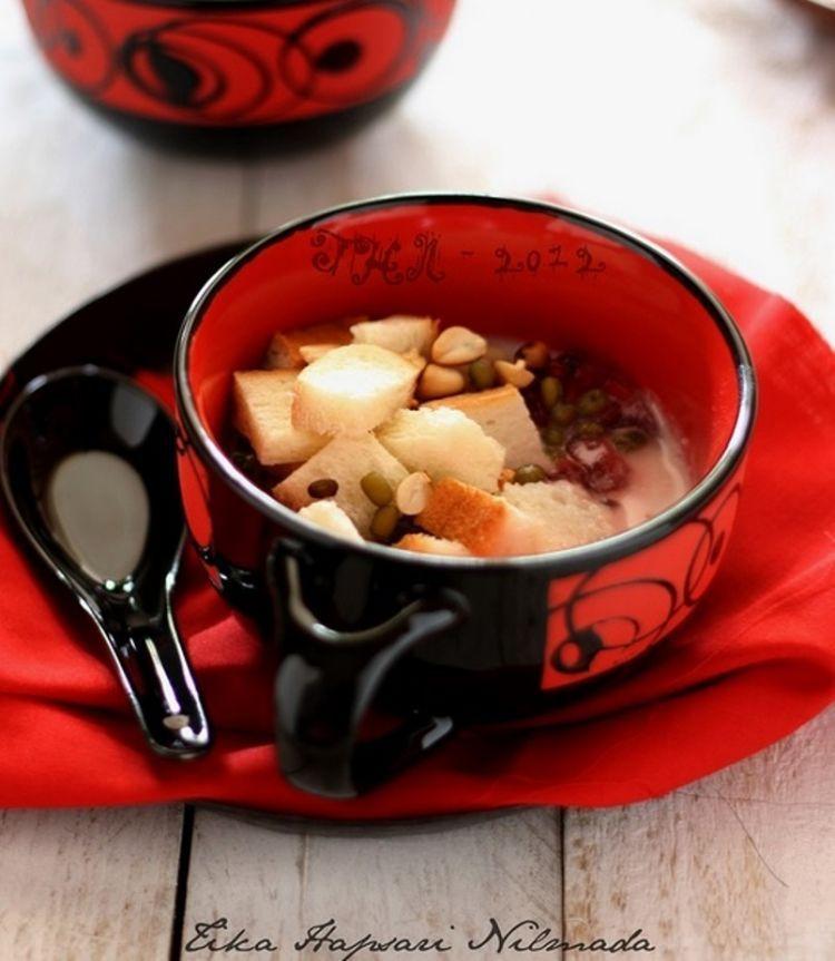 Resep wedang bajigur yang lezat dengan roti tawar dan kacang