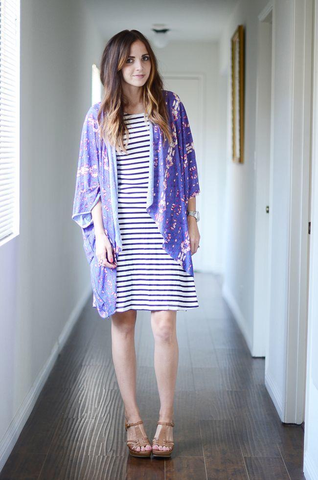 Padu padan outer kimono untuk sehari-hari