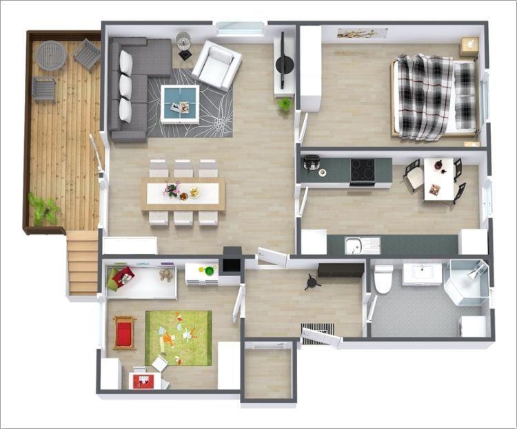 Desain layout rumah sederhana untuk keluarga kecil