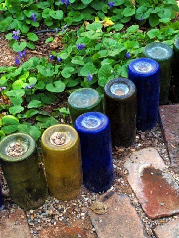 DIY properti rumah buat taman dari botol