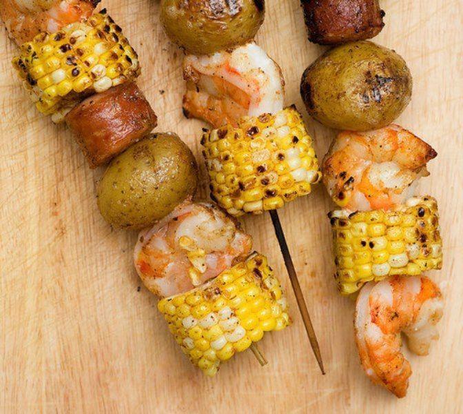 Cara membuat sate jagung udang dan kentang