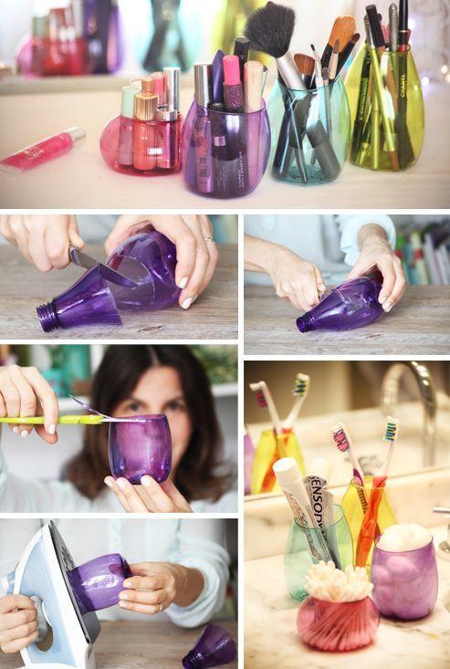 Langkah-langkah membuat botol warna-warni agar terlihat tak terbuang sia-sia