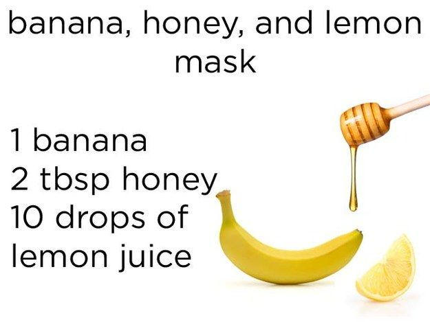 Masker dari pisang, madu, dan jus lemon