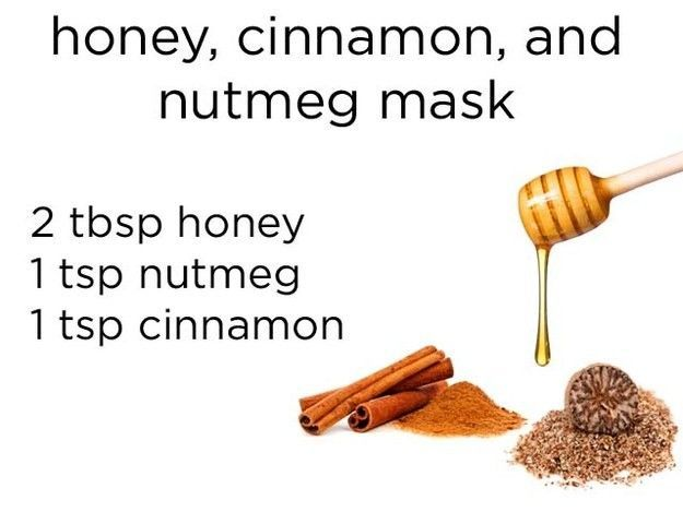 Masker dari madu, pala, dan kayu manis