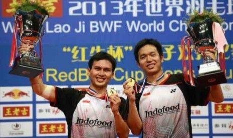 Moh.Ahsan/Hendra Setiawan meraih Gelar Juara Dunia 2013