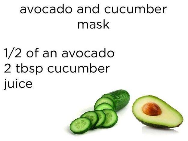 Masker dari buah alpukat dan jus mentimun
