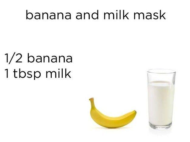 Masker dari pisang dan susu