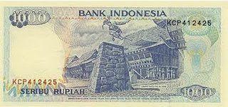 Uang kertas 1992 IDR 1000 edaran Bank Indonesia