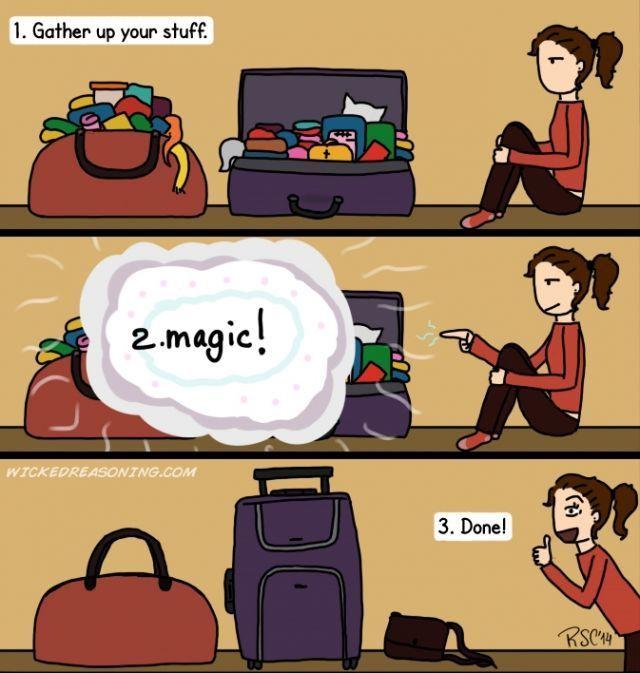 Packing baju dan segala tetek bengeknya
