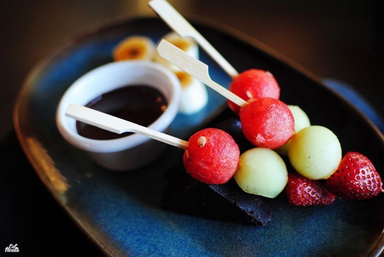 Chocolate fondue. Spark inside the party!