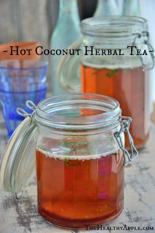 Hot coconut herbal tea