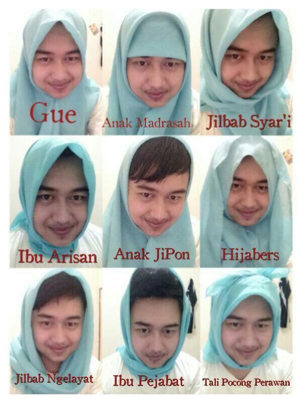Macam-macam mode jilbab