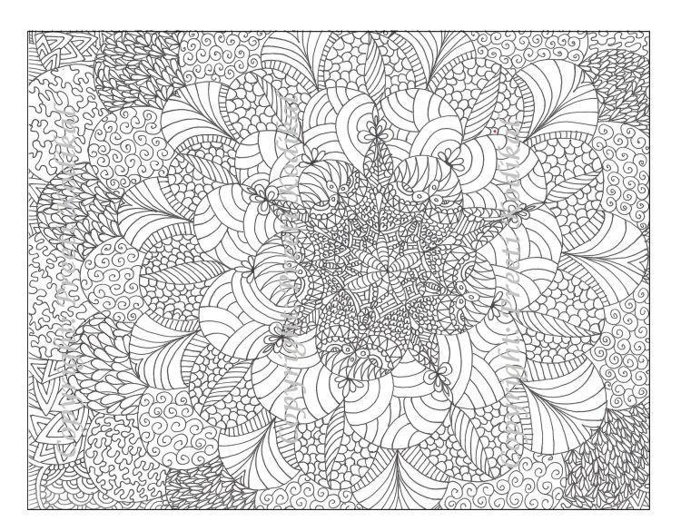 Pola bunga yang abstrak