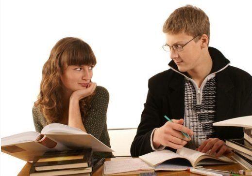 Kalau belajar sama pacar kan, pasti lebih asik daripada sendiri :(